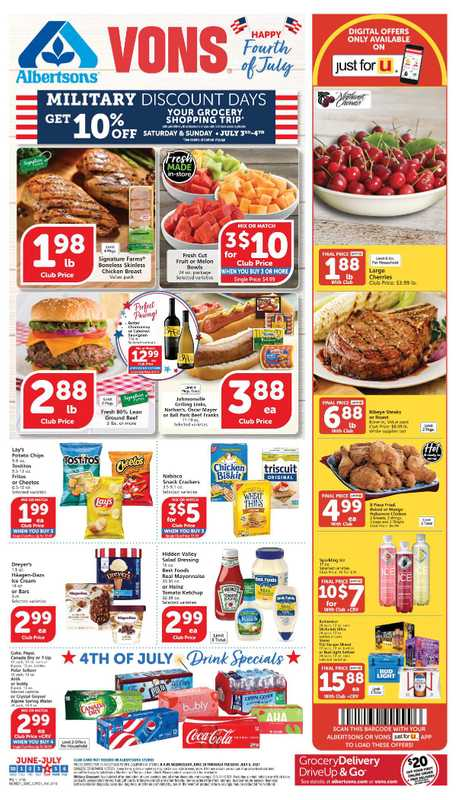 Vons - deals are valid from 06/30/21 to 07/06/21 - page 1.
