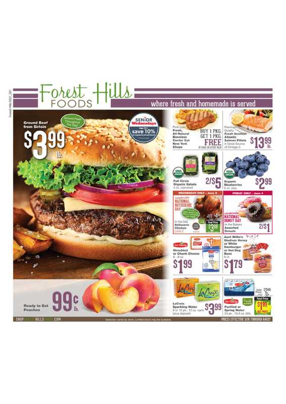 Forest Hills Foods - deals are valid from 05/31/21 to 06/05/21 - page 1.