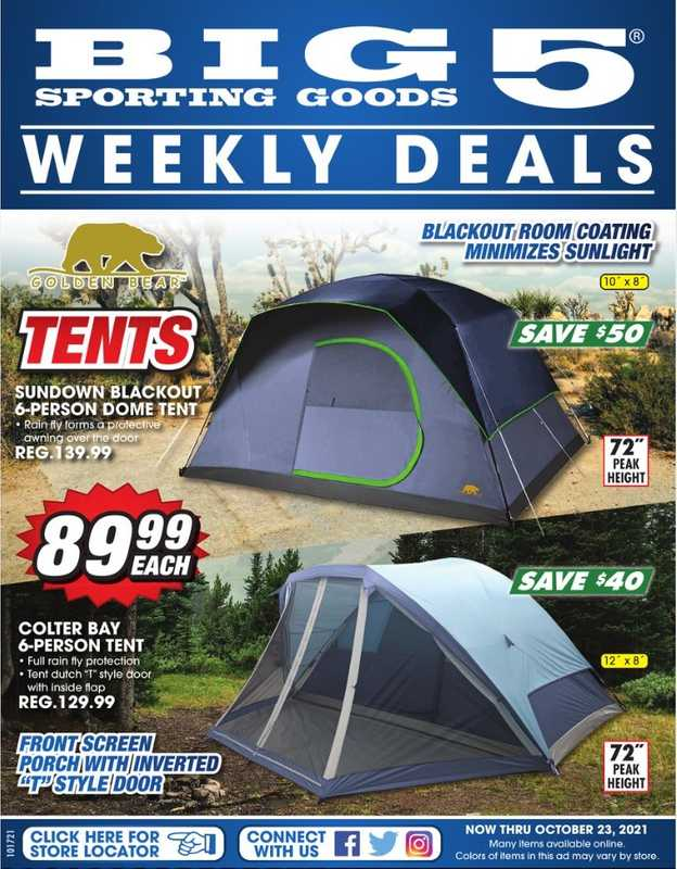 Big 5 Sporting Goods - deals are valid from 10/17/21 to 10/23/21 - page 1.