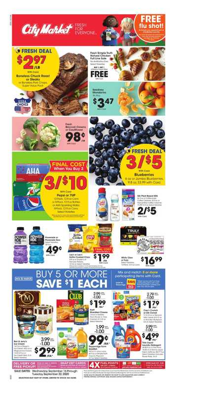 City Market - deals are valid from 09/16/20 to 09/22/20 - page 1.