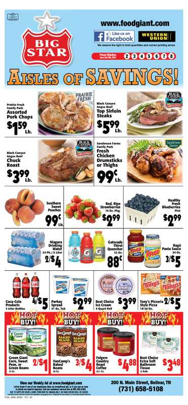 Big Star - deals are valid from 06/02/21 to 06/08/21 - page 1.
