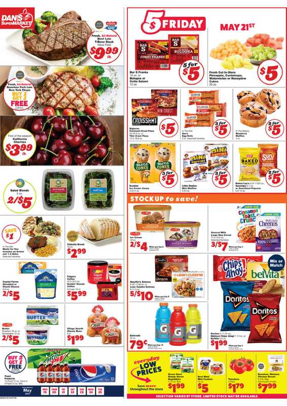 Dan's Market - deals are valid from 05/19/21 to 05/25/21 - page 1.