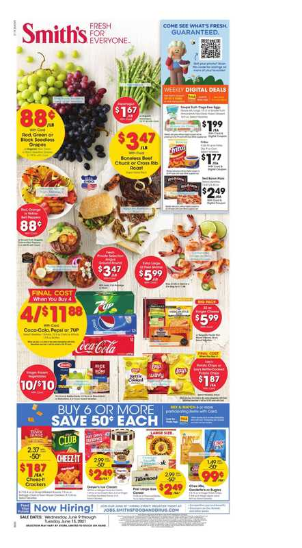 Smith's - deals are valid from 06/09/21 to 06/15/21 - page 1.