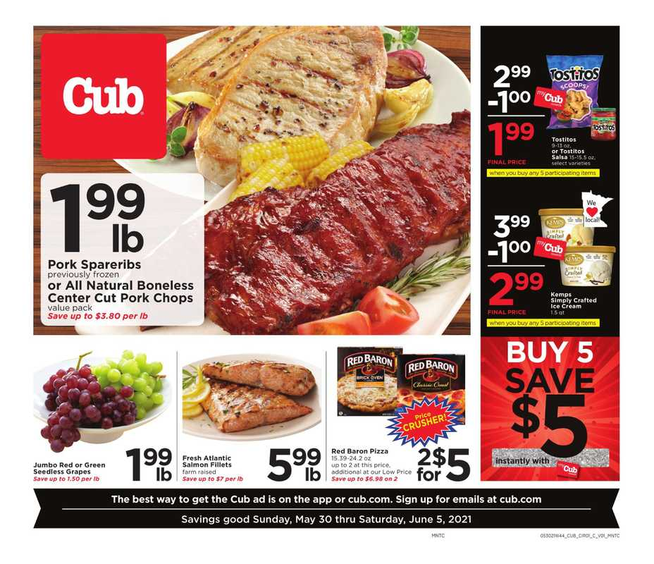 Cub - deals are valid from 05/30/21 to 06/05/21 - page 1.
