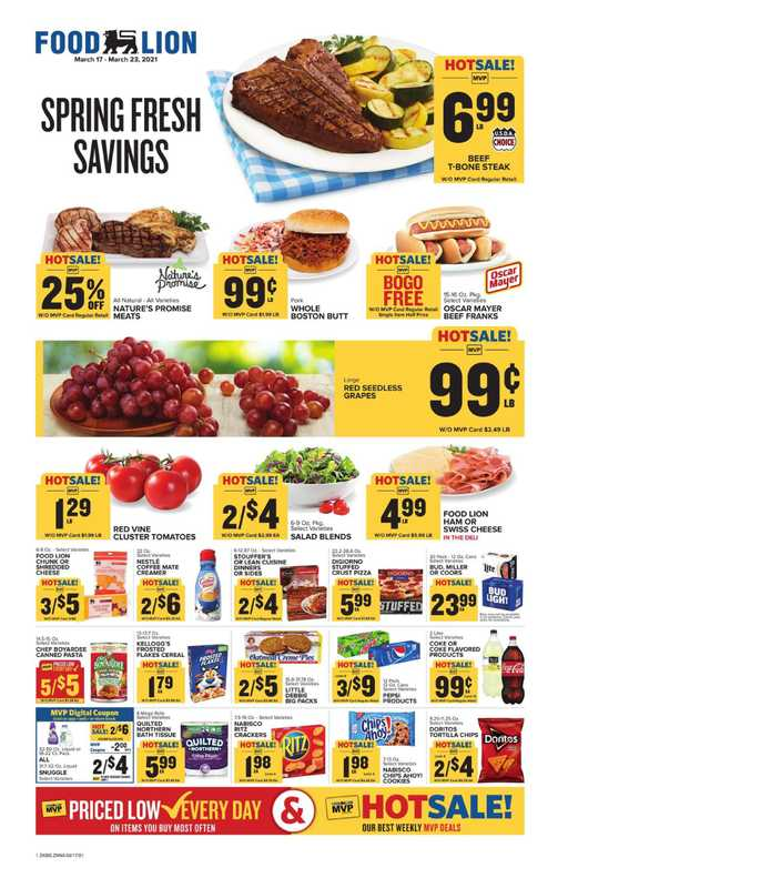 Food Lion - deals are valid from 03/17/21 to 03/23/21 - page 1.