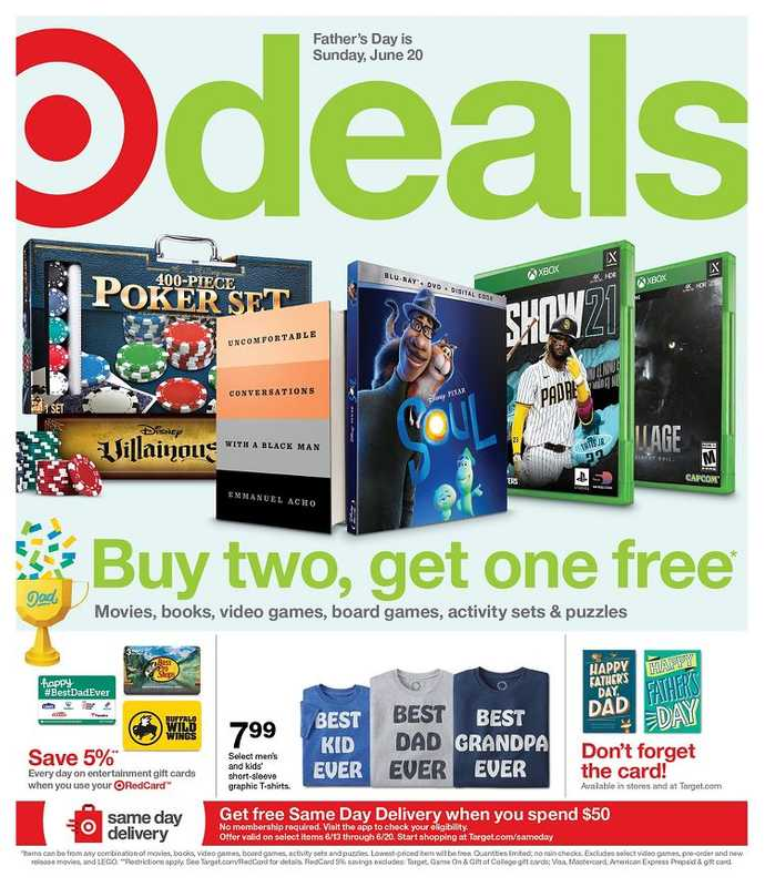 Target - deals are valid from 06/13/21 to 06/19/21 - page 1.