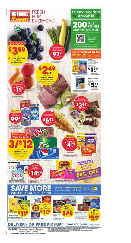 King Soopers - deals are valid from 03/10/21 to 03/16/21 - page 1.