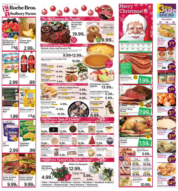 Roche Bros. - deals are valid from 12/13/19 to 12/24/19 - page 1.