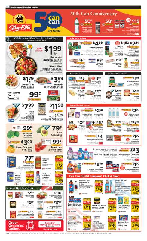 ShopRite - deals are valid from 01/18/21 to 01/24/21 - page 1.