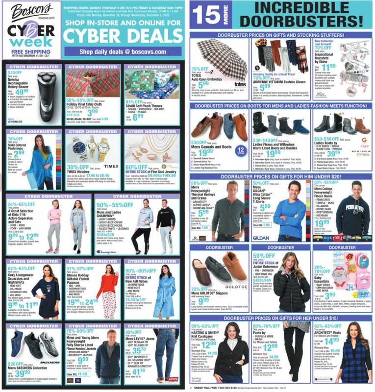 Boscov's - deals are valid from 11/30/20 to 12/02/20 - page 1.
