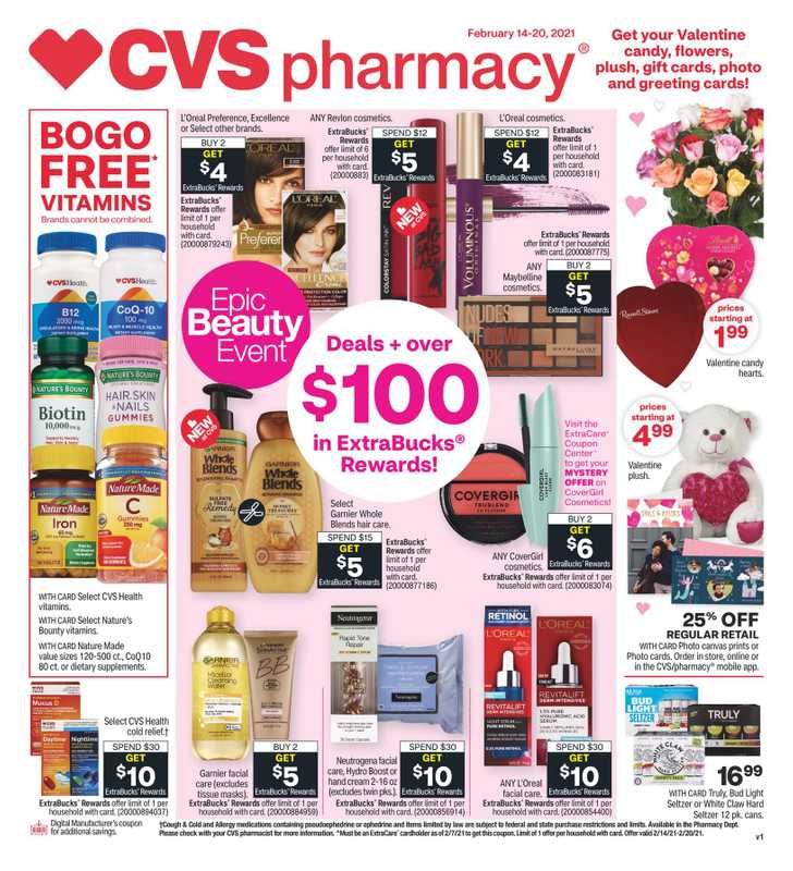 CVS - deals are valid from 02/14/21 to 02/21/21 - page 1.