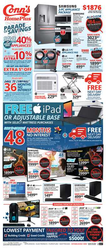 Conn's HomePlus - deals are valid from 06/23/21 to 06/26/21 - page 1.