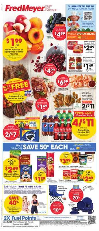 Fred Meyer - deals are valid from 06/02/21 to 06/08/21 - page 1.