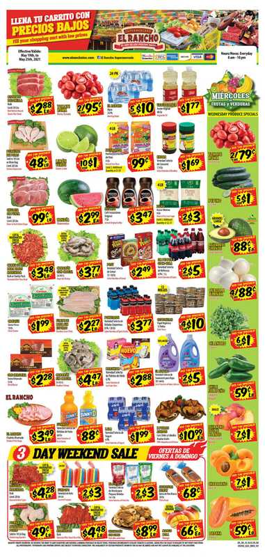 El Rancho Supermarket - deals are valid from 05/19/21 to 05/26/21 - page 1.