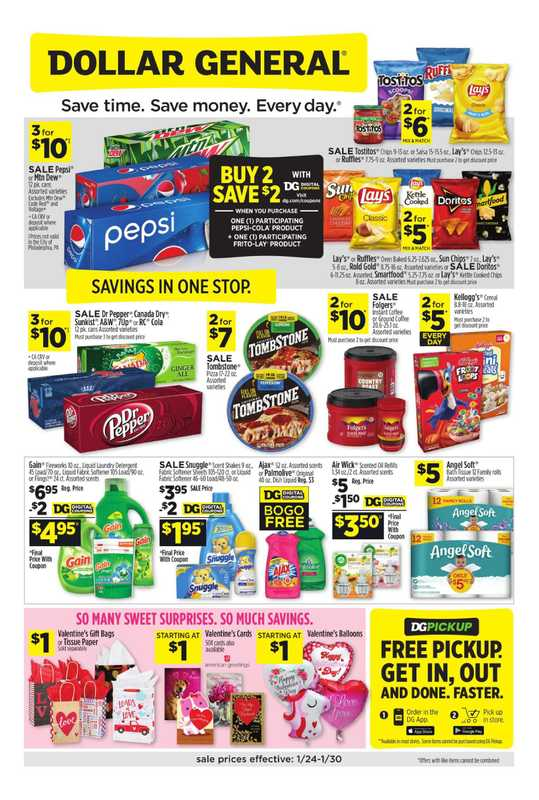 Dollar General - deals are valid from 01/24/21 to 01/30/21 - page 1.