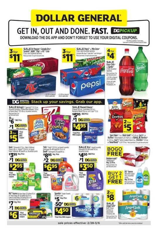 Dollar General - deals are valid from 02/28/21 to 03/06/21 - page 1.