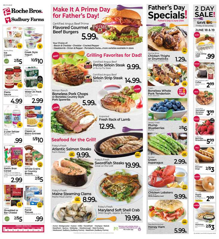 Roche Bros. - deals are valid from 06/18/21 to 06/24/21 - page 1.