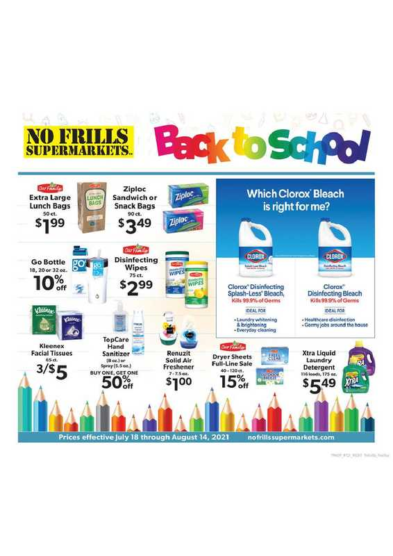 No Frills Supermarkets - deals are valid from 07/18/21 to 08/14/21 - page 1.