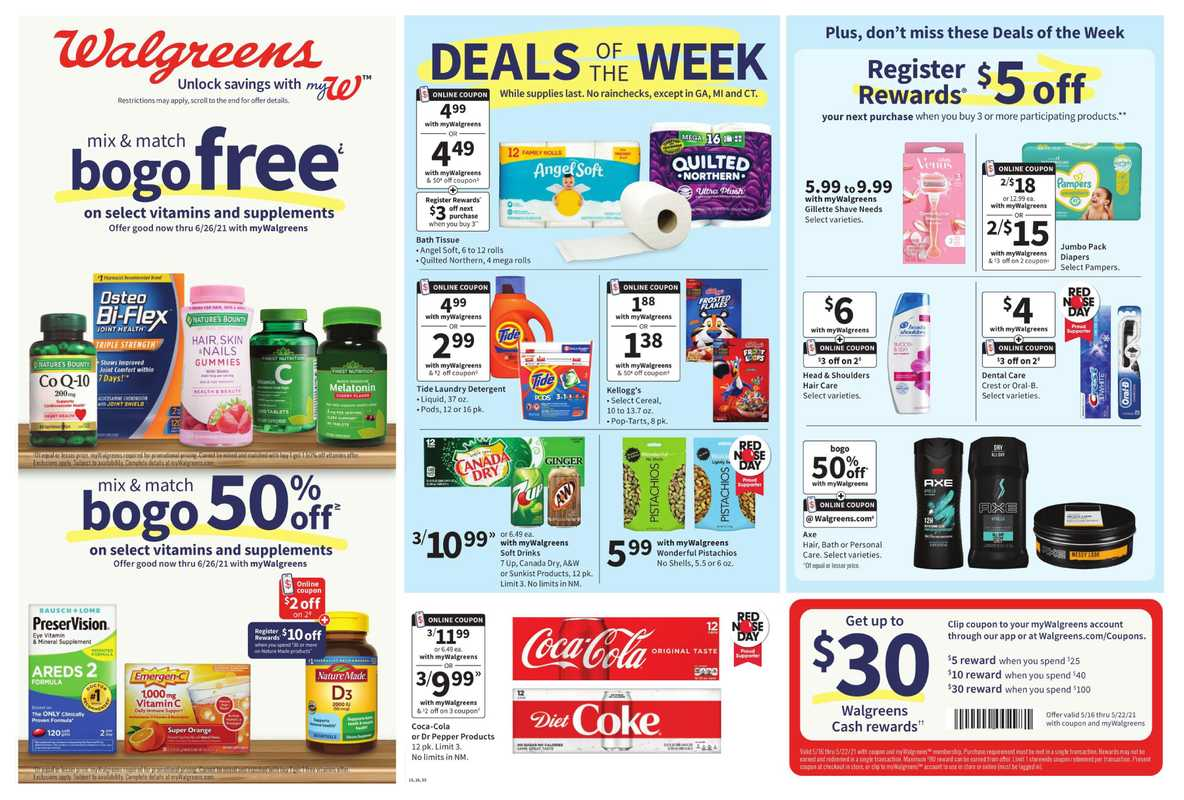 Walgreens - deals are valid from 05/16/21 to 05/22/21 - page 1.