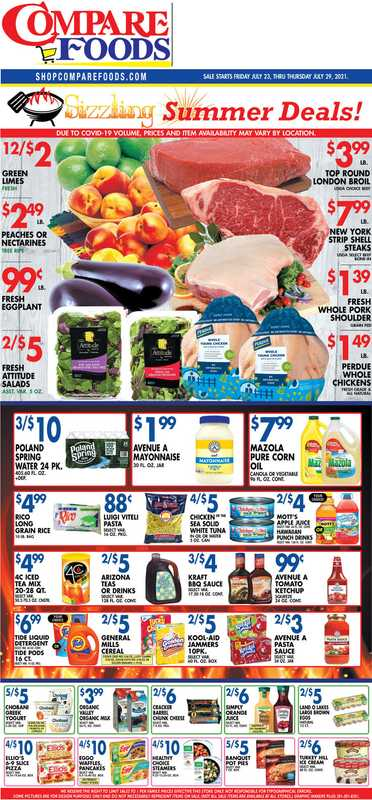 Compare Foods - deals are valid from 07/23/21 to 07/29/21 - page 1.