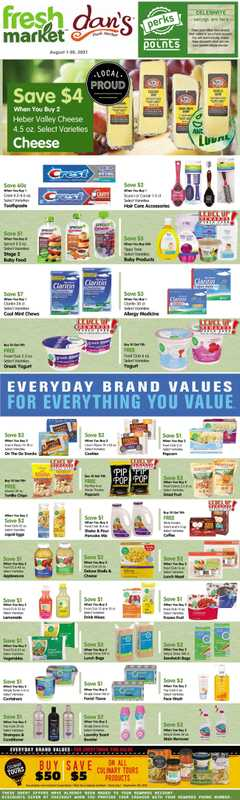 Dan's Market - deals are valid from 08/01/21 to 08/31/21 - page 1.