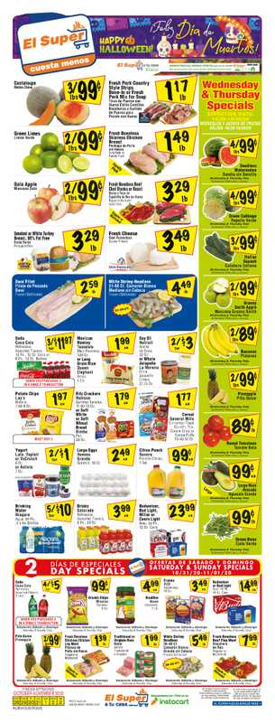 El Super - deals are valid from 10/28/20 to 11/03/20 - page 1.