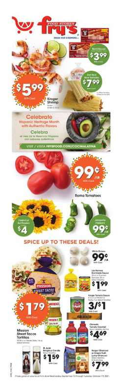 Fry's Food - deals are valid from 09/15/21 to 10/15/21 - page 1.