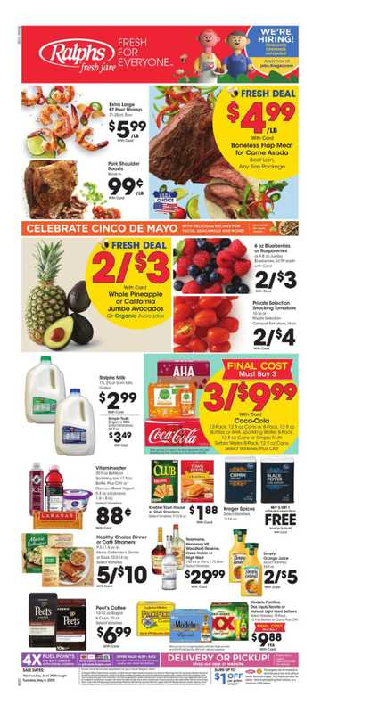 Ralphs - deals are valid from 04/29/20 to 05/05/20 - page 1.