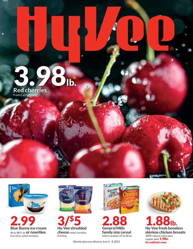 Hy-Vee - deals are valid from 06/02/21 to 06/08/21 - page 1.