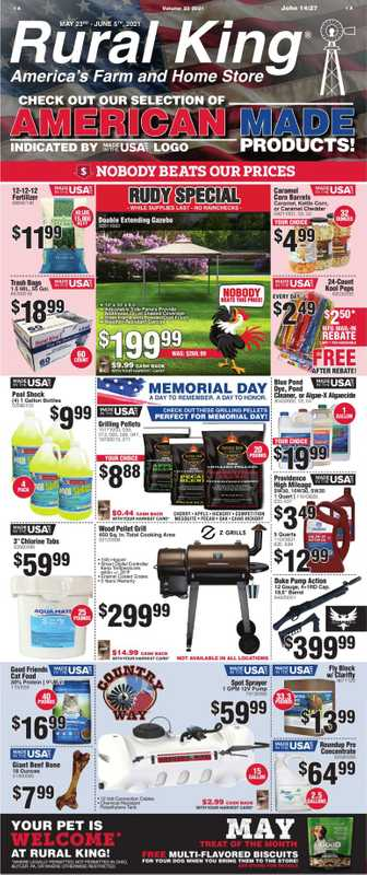 Rural King - deals are valid from 05/23/21 to 06/05/21 - page 1.