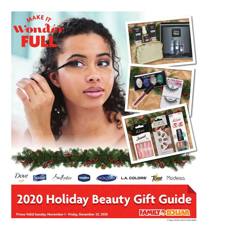 Family Dollar - deals are valid from 11/01/20 to 12/25/20 - page 1.