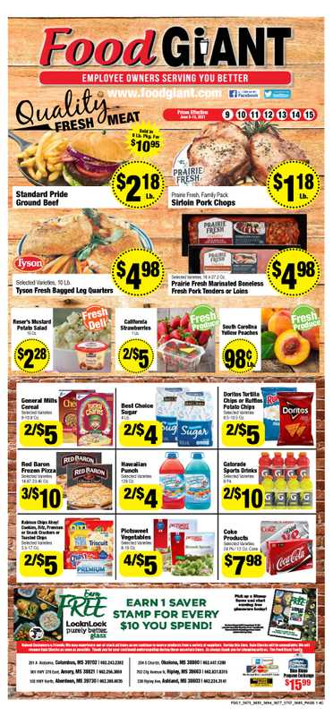 Food Giant - deals are valid from 06/09/21 to 06/15/21 - page 1.