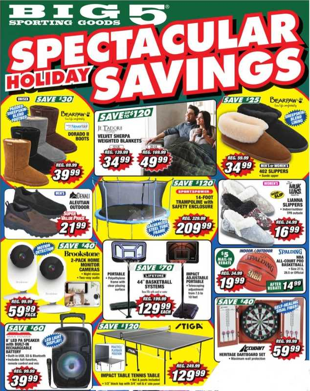 Big 5 Sporting Goods - deals are valid from 12/13/20 to 12/27/20 - page 1.