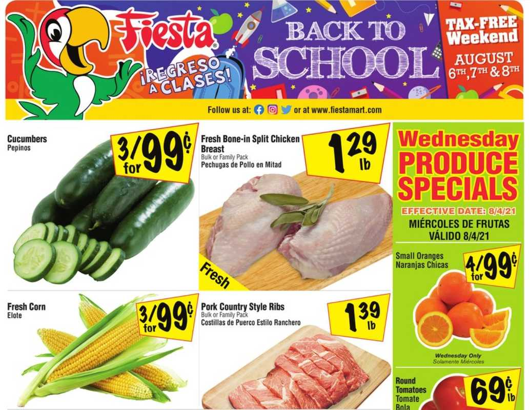 Fiesta Mart - deals are valid from 08/04/21 to 08/10/21 - page 1.
