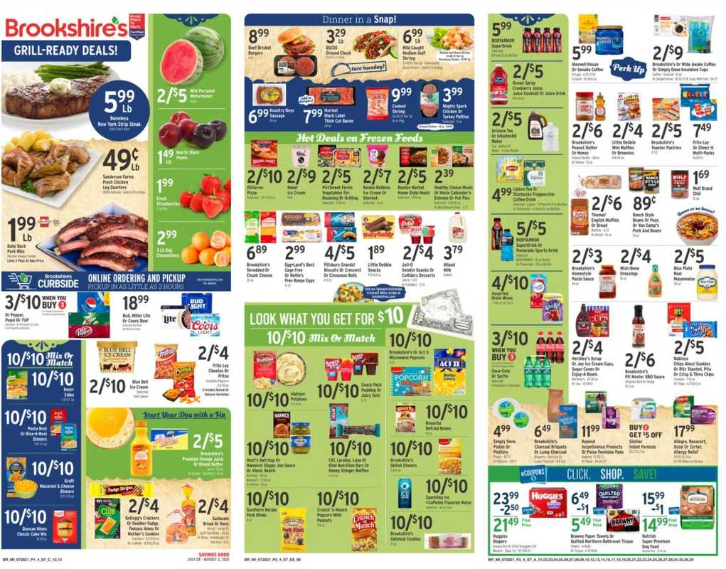 Brookshire's - deals are valid from 07/28/21 to 08/03/21 - page 1.