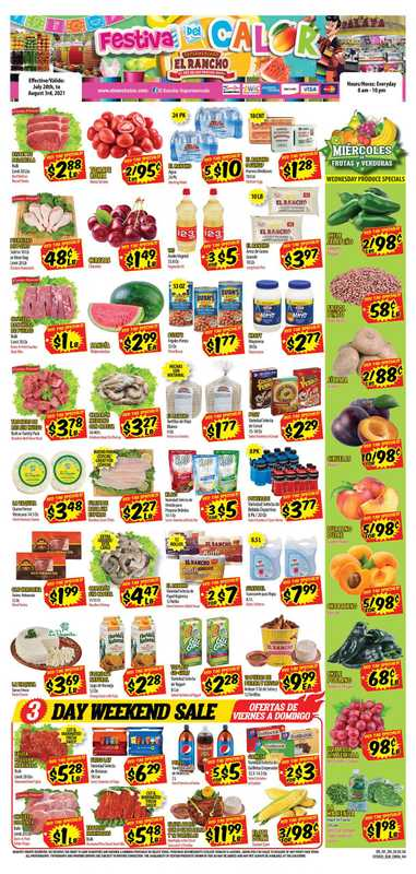 El Rancho Supermarket - deals are valid from 07/28/21 to 08/03/21 - page 1.