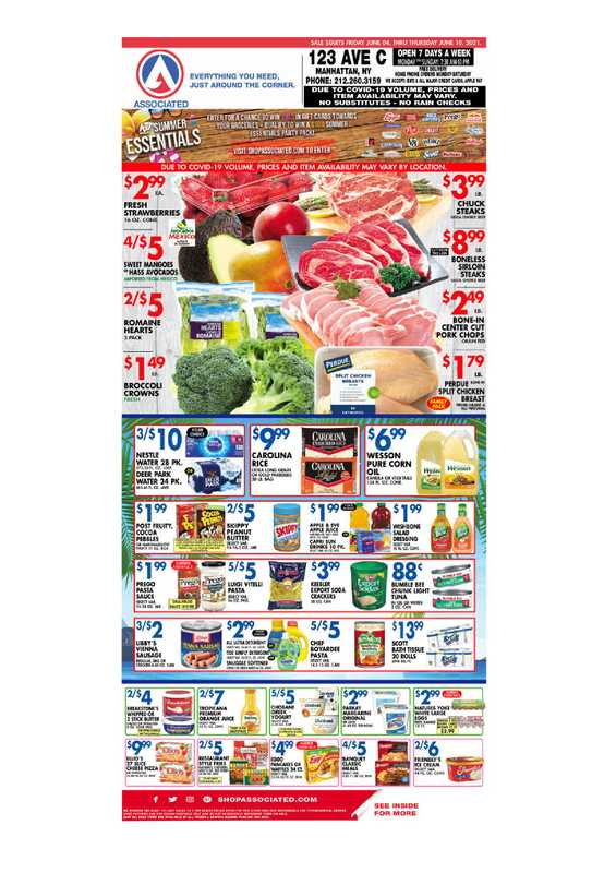 Associated Supermarkets - deals are valid from 06/04/21 to 06/10/21 - page 1.