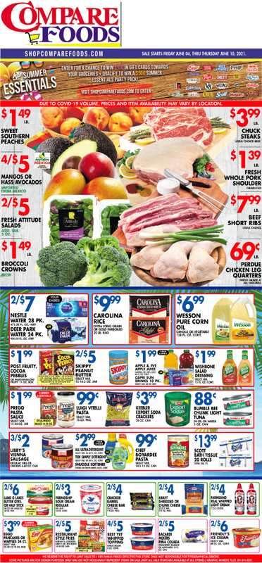 Compare Foods - deals are valid from 06/04/21 to 06/10/21 - page 1.