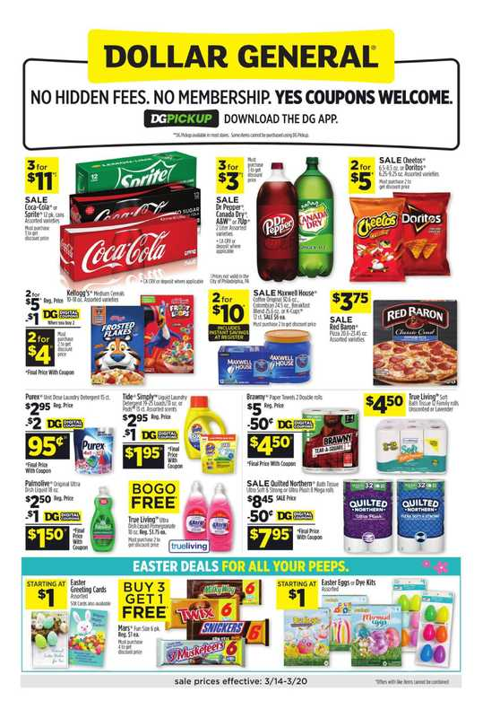 Dollar General - deals are valid from 03/14/21 to 03/20/21 - page 1.