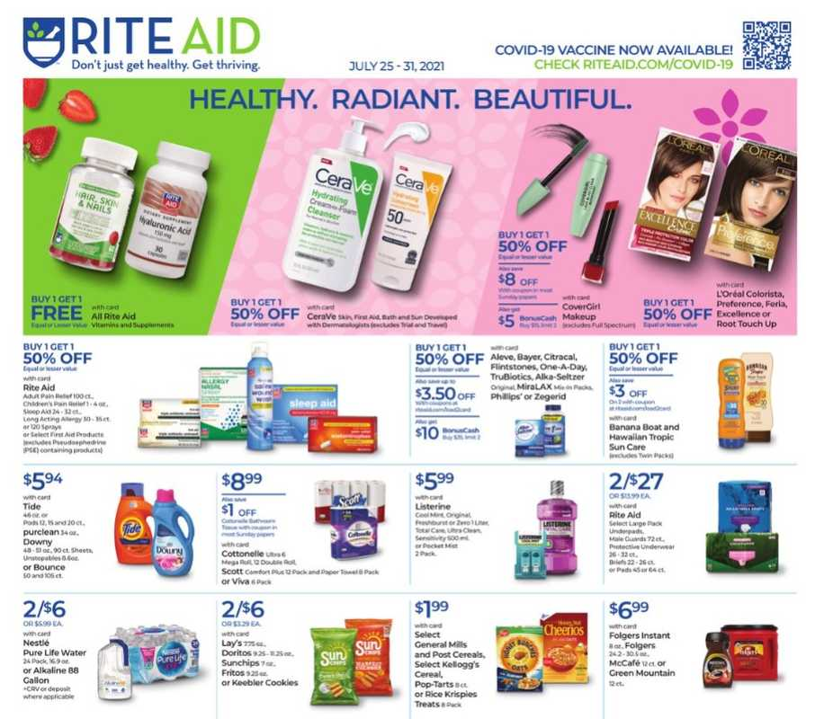 Rite Aid - deals are valid from 07/25/21 to 07/31/21 - page 1.