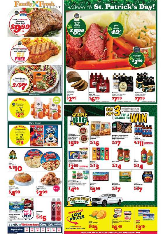 Family Fresh Market - deals are valid from 09/14/21 to 09/20/21 - page 1.