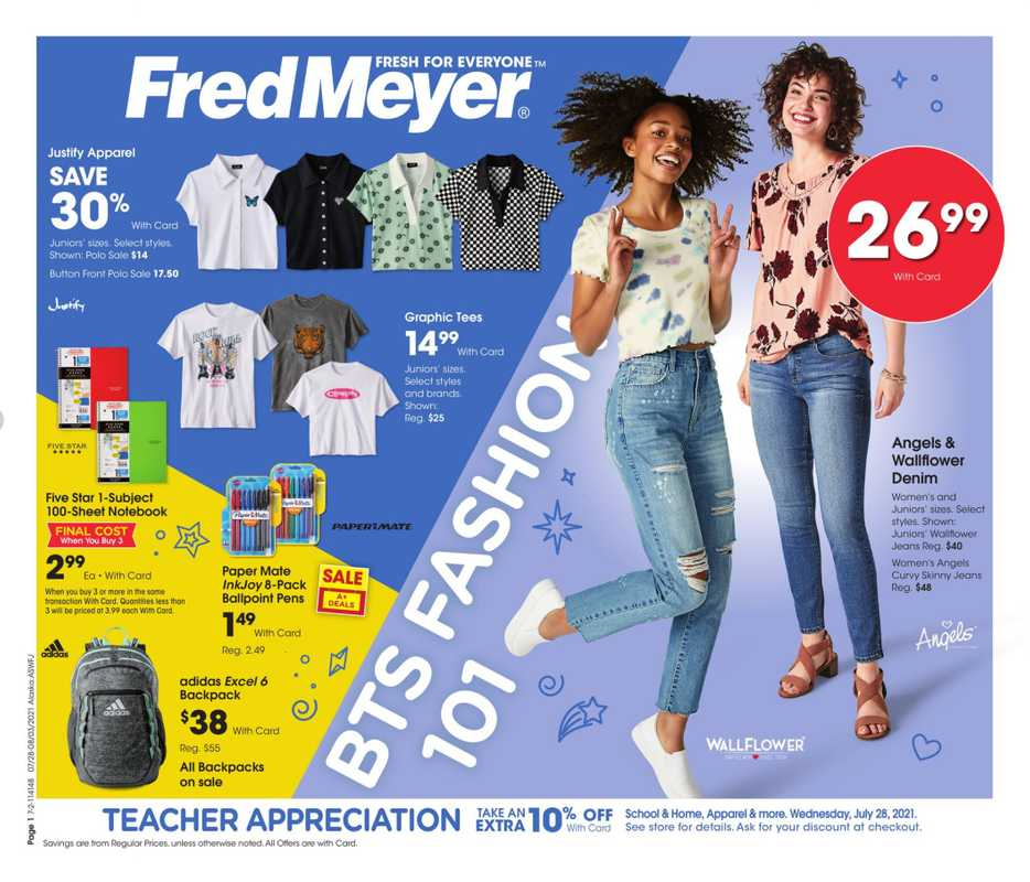 Fred Meyer - deals are valid from 07/27/21 to 08/03/21 - page 1.