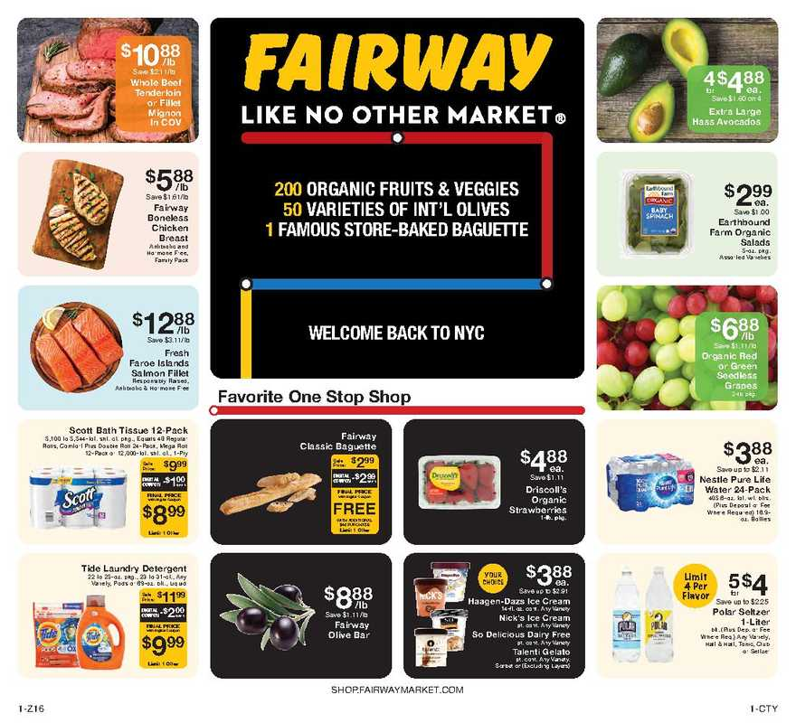 Fairway - deals are valid from 09/17/21 to 09/23/21 - page 1.