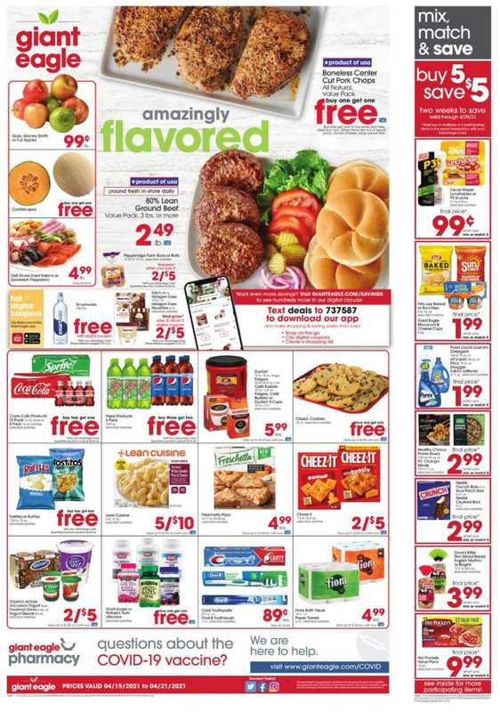 Market District - deals are valid from 04/15/21 to 04/21/21 - page 1.