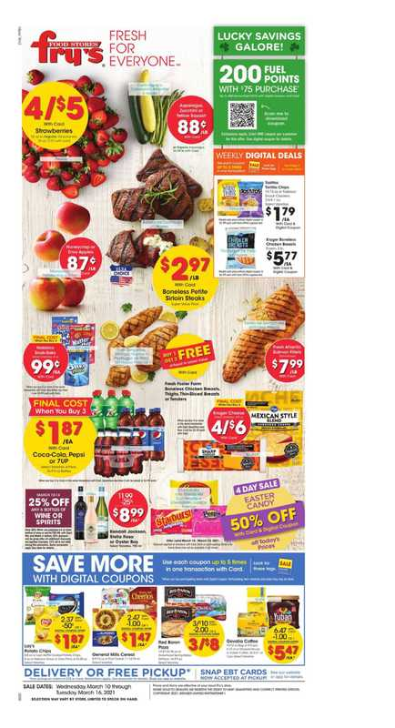 Fry's Food - deals are valid from 03/10/21 to 03/16/21 - page 1.