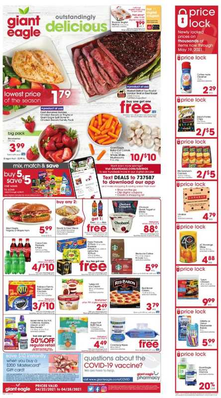 Giant Eagle - deals are valid from 04/22/21 to 04/28/21 - page 1.