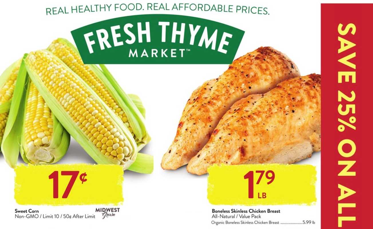 Fresh Thyme - deals are valid from 07/28/21 to 08/03/21 - page 1.