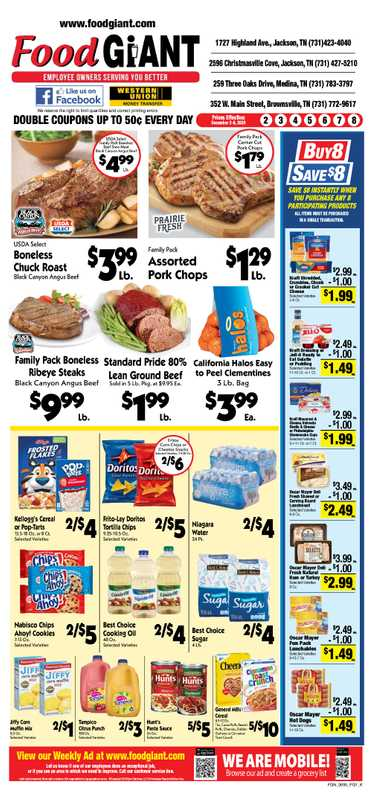 Food Giant - deals are valid from 12/02/20 to 12/08/20 - page 1.