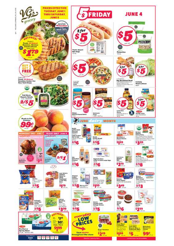 VG's Grocery - deals are valid from 06/01/21 to 06/05/21 - page 1.