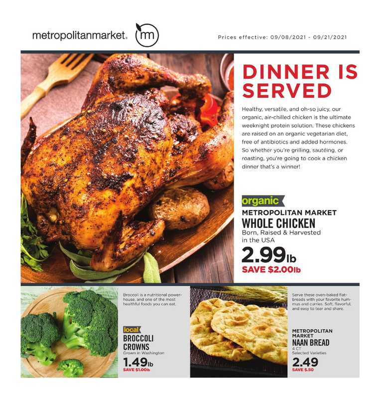Metropolitan Market - deals are valid from 09/08/21 to 09/21/21 - page 1.